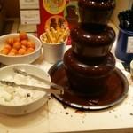 デザート王国 - 小さいチョコレートファウンテン