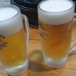 成吉思汗 大黒屋 5丁目支店 - ビールで乾杯