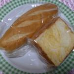 ナカムラヤ - 料理写真:ミルクパンとチーズパン(正式名称失念)