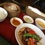 中国料理 兆楽 - スブタ定食 @1100ー