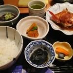 美山の味 勝手屋 - キンキ煮付定食 1,000円