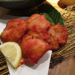42257350 - 「伊藤蒲鉾店」紅しょうが天