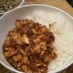 中華naきもち - セットにした麻婆豆腐丼
