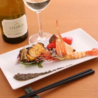 旬の魚介・野菜も充実のラインナップ