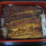 鰻料理専門店 曳馬野 - 浜名湖産天然鰻重(特大)のアップ