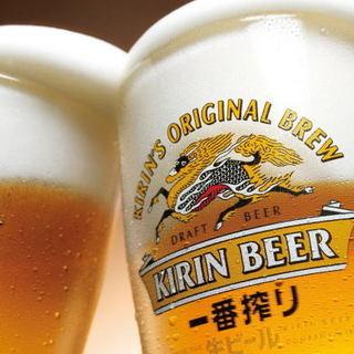 生ビールいつでも300円★充実したドリンクメニュー