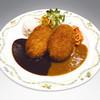 プチ グリル マルヨシ - 料理写真:自家製シナモンコロッケ Wソース