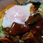 吉野家 - 別料金で半熟卵をプラス まろやかさアップで美味しかった~!