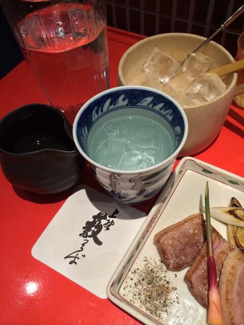上野藪そば - 蕎麦焼酎で鴨 の幸せ