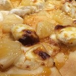 42272144 - バナナとマスカルポーネ キャラメルソース ピザ