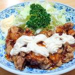 豊 - チキン南蛮定食¥750