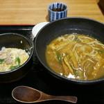 田舎亭 - 親子丼+あげカレーうどん(880円)