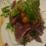ビストロ魚丸 - カツオのカルパッチョ