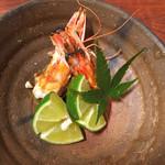 鮨柳屋 - 茹で車海老の頭