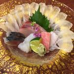 鮨柳屋 - 刺身5種盛り合わせ