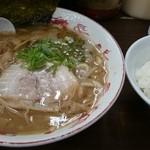 42277924 - らぁ麺並+半ライス