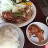 明月館 - 料理写真:⚫︎ランチメニュー   ミックス定食=1000円 税別