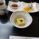 瑠璃京 - 前菜その2;鱧の真子、鱧の落とし