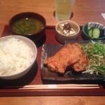柳町 - から揚げ定食 ¥850
