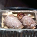 京都 吉兆 - 八寸:松茸の牛肉巻