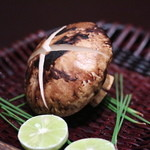 京都 吉兆 - 強肴:長野産松茸の焼き物