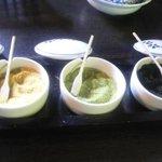 ととろの里 - 天麩羅用の塩三種