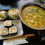 麺処 よしだや - 料理写真:氷見カレーうどん:720円+Aセット:280円