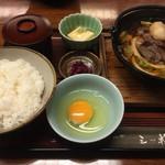 さんのみや 三ッ輪 - 牛鍋定食