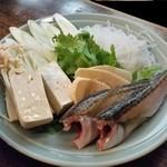 津ねや - これも秋田名物「しょっつる鍋 (2100円)」