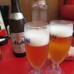 四川厨房 - まずは、ビールで乾杯~♪