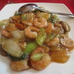四川厨房 - 海老と野菜炒め
