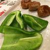 金太郎 - 料理写真:ホルモンつくねピーマン付き