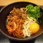 讃岐製麺 - 豚キムチぶっかけ(並・冷)390円