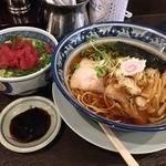 すなお軒 - 醤油中華そば(700円)+ミニまぐろ中落丼(300円)