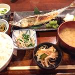 仁松庵 - さんま定食+茶碗蒸し 1510円