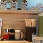 豚骨ラーメン銀水 - カウンター席