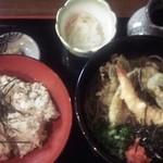 一福 - 料理写真:天ぷらそばセット 990円(特別価格)通常 1,130円