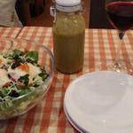 42307595 - サラダ&自家製ふきのとうドレッシングが美味
