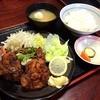 味良 - 料理写真:鶏ジャンボから揚げ定食780円。 醤油ベースの大きなから揚げが3つ。