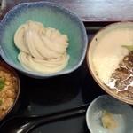 瀬戸内製麺710 - 牛肉とろろつけ麺&冷やしカレー丼(H27.9.23)