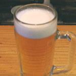 肉の店 鳥吉 - 生ビールは400円っす。