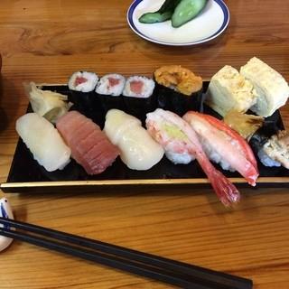 寿ゑ泰鮨 - 寿ゑ泰鮨のふかひれにぎりセットの上にぎり。