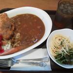 curry de CAFE UTSUWA - 日替わりカレー600円(税込)、ミニサラダ付