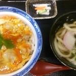 香房 - (2015.9)特 地鶏親子丼 かけうどんセット