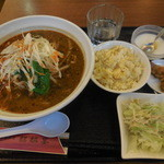 麒麟宴 - 坦々麺+半チャーハン \850→¥500