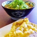 丸亀製麺 - カレーうどんとゲソ天