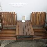 キッキリキ - 店頭の椅子。