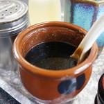 一茶庵 支店 - スープの味を濃くしたい方のために・・