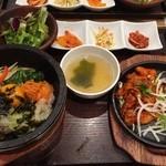 韓美膳 - 石焼ビビンバと辛みそサムギョプサルセット