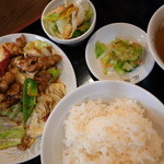 gyouzashukakouran - 回肉鍋定食